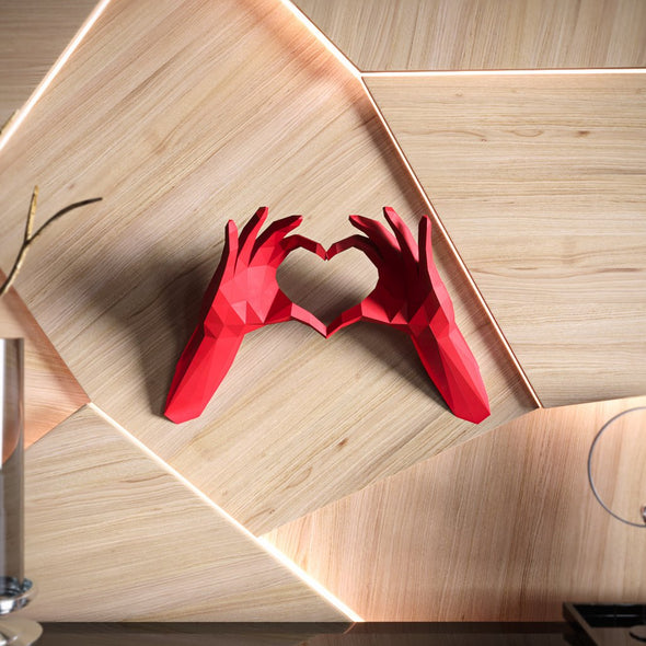 Hands & Love Sign Papercraft Kit