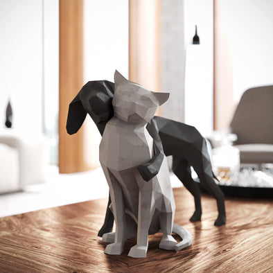 Cat & Dog Papercraft Kit