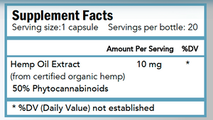 Super Bio Hemp Extract Capsules - 20 count