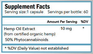 60 count - Super Bio Hemp Extract Capsules