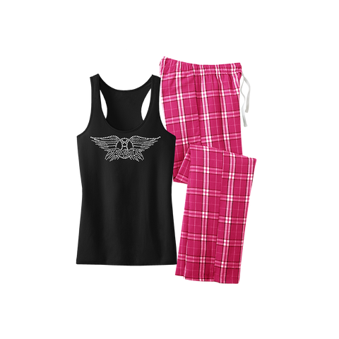 Bling Pajamas Set with Pink Pants