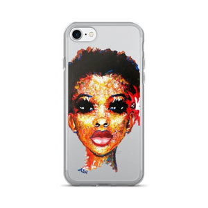 Curly Hair Short Afro Black Natural Hair Twa iPhone 7/7 Plus Case