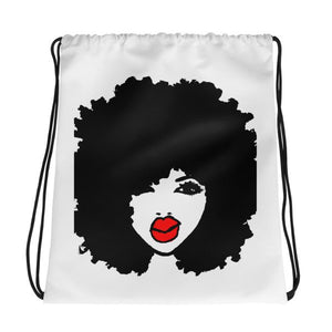 Afro Curly Natural Hair Queen Drawstring Bag BackPack