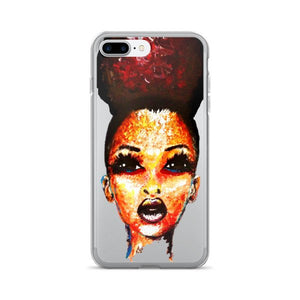 Positive Attitude Natural Hair Puff Diva iPhone 7/7 Plus Case