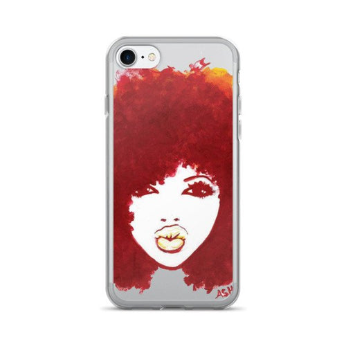 Curly Afro Autumn Natural Hair T-Shirt iPhone 7/7 Plus Case