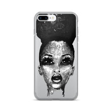 Load image into Gallery viewer, Positive Attitude Natural Hair Puff Diva Black & White iPhone 7/7 Plus Case