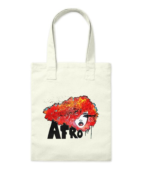 Afro Rush BigHair Natural Hair Tote Bag