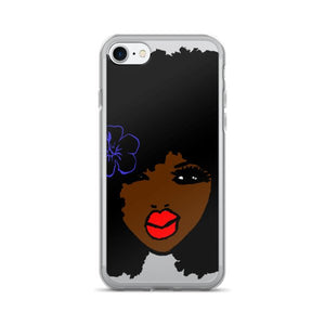 BrownSkin Curly Afro Natural Hair💋💋 RedLips Brand New: JUST Released iPhone 7/7 Plus Case
