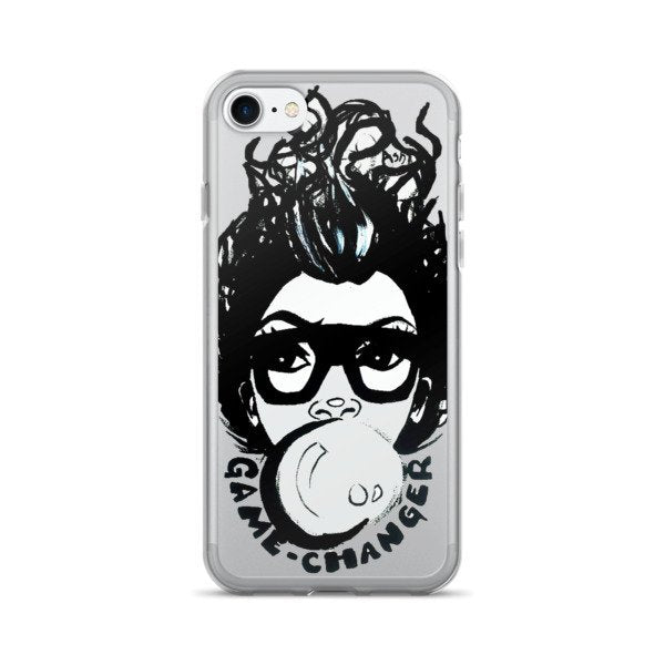 Afro Black Short Fro Bubble Gum Natural Hair Diva iPhone 7/7 Plus Case