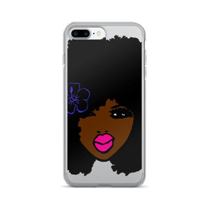 BrownSkin Curly Afro Natural Hair💋💋 PinkLips iPhone 7/7 Plus Case