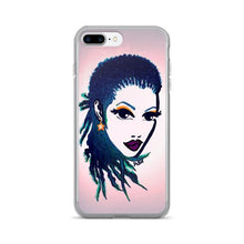 Load image into Gallery viewer, Natural Women Natural Hair Braids Purple Lips iPhone 7/7 Plus Case