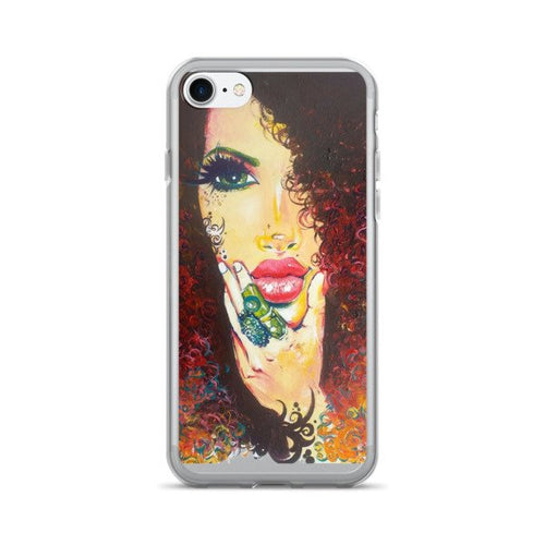 Curly Natural Hair Gorgeous Bouncy Curls Autumn Hair iPhone 7/7 Plus Case