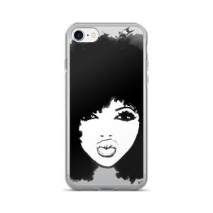 Natural Hair Curly Hair Autumn Black Afro iPhone 7/7 Plus Case