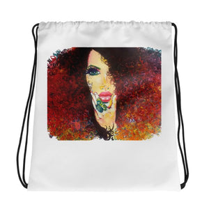 Autumn Hair Curly Natural Hair Gorgeous Women Drawstring Bag