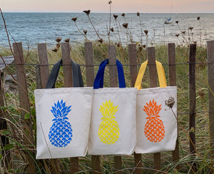 Three Little Gift Bags- Blue, Yellow and Orange