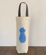 Load image into Gallery viewer, Blue Pineapple Wine Gift Bag