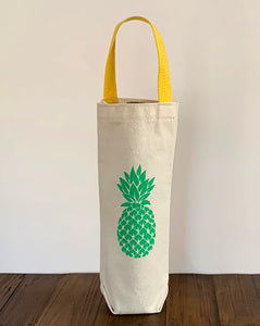 Green Pineapple Wine Gift Bag