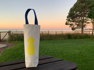 Yellow Pineapple Wine Gift Bag