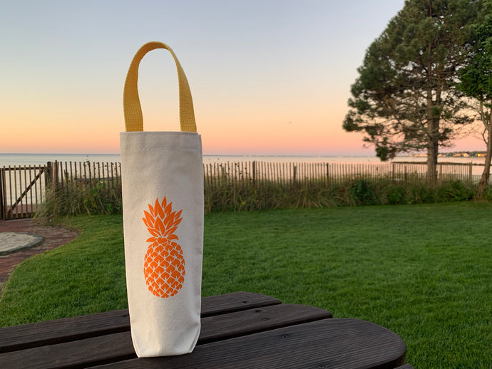Orange Pineapple Wine Gift Bag