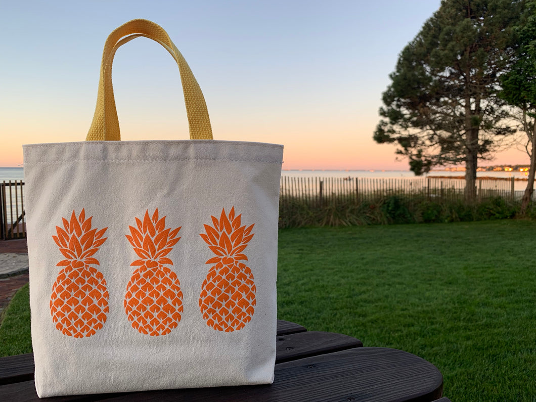 Bigger Orange Three Pineapple Gift Bag
