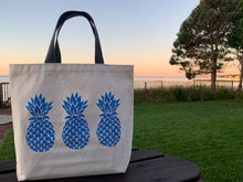 Load image into Gallery viewer, Bigger Blue Three Pineapple Gift Bag