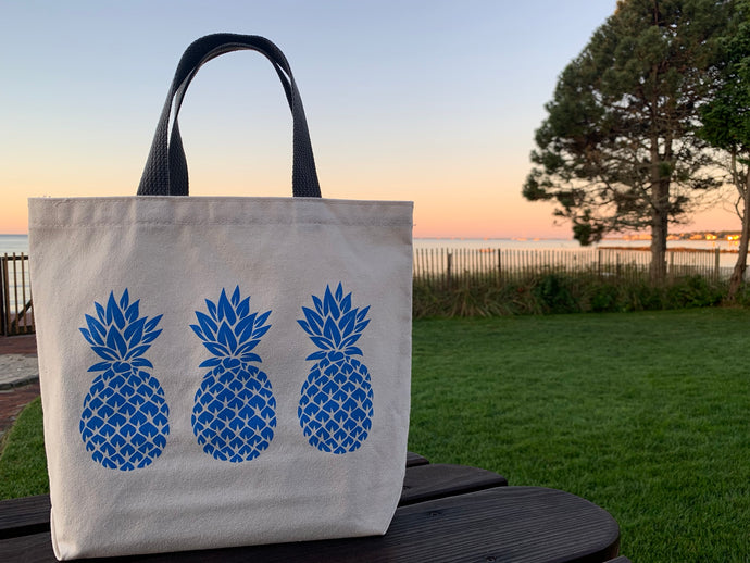 Bigger Blue Three Pineapple Gift Bag