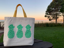 Load image into Gallery viewer, Bigger Green Three Pineapple Gift Bag