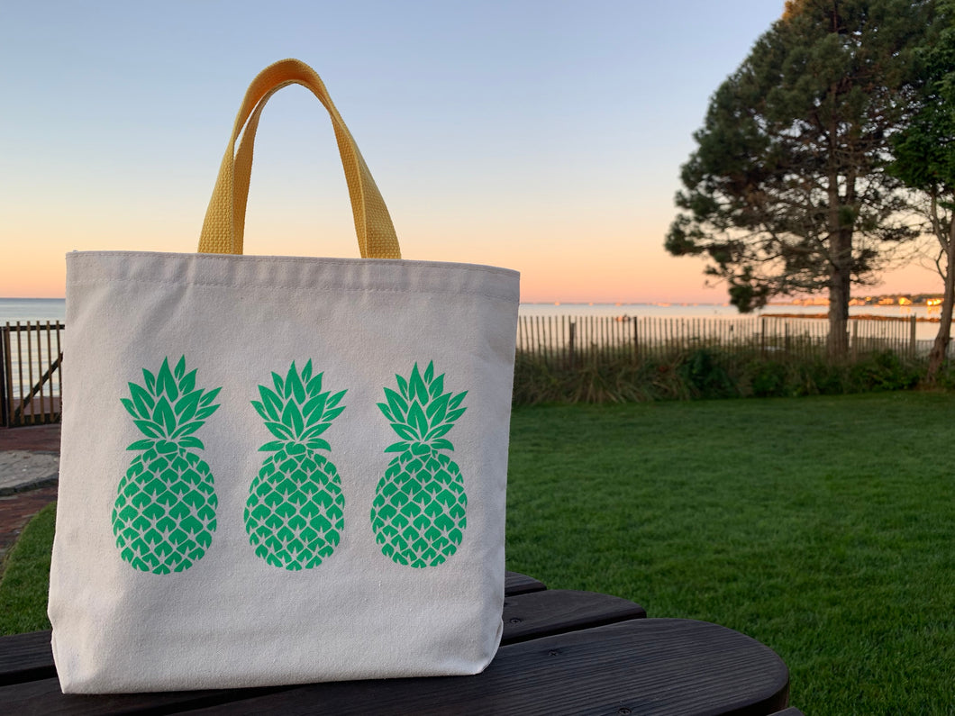 Bigger Green Three Pineapple Gift Bag
