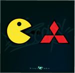 PACKMAN EATS MITSUBISHI - DECAL