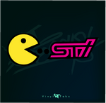 PACKMAN EATS STI - DECAL