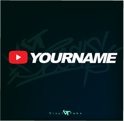 2 YOUTUBE DECAL $5