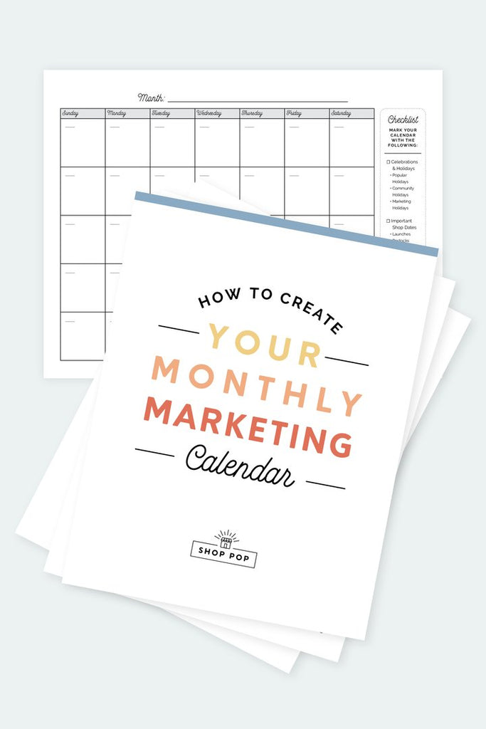 how to create your monthly marketing promotions
