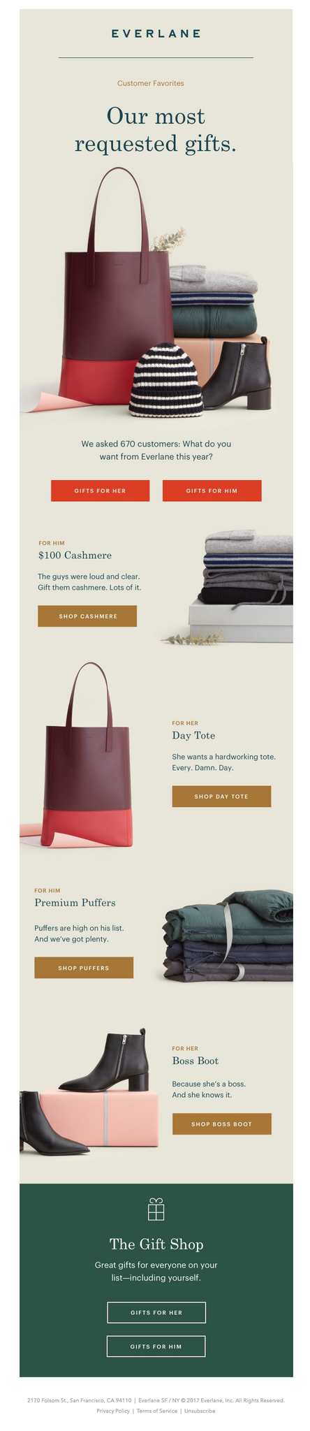 everlane good holiday email marketing example