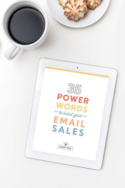 35 power words to boost email sales shop pop