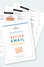 blueprints for email design shop pop