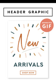 """New Arrivals"" Email Header Graphic - Modern Brand"