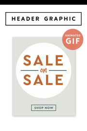 sale email header graphic shop pop