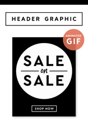 """Sale on Sale"" Email Header Graphic - Black and White"