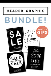 email header graphic bundle gif shop pop