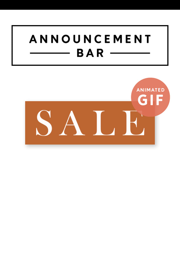 """Sale"" Email Announcement Bar - Modern Brand"