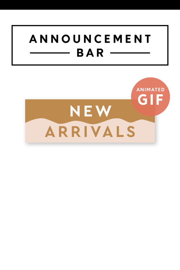 """New Arrivals"" Email Announcement Bar - Modern Brand"