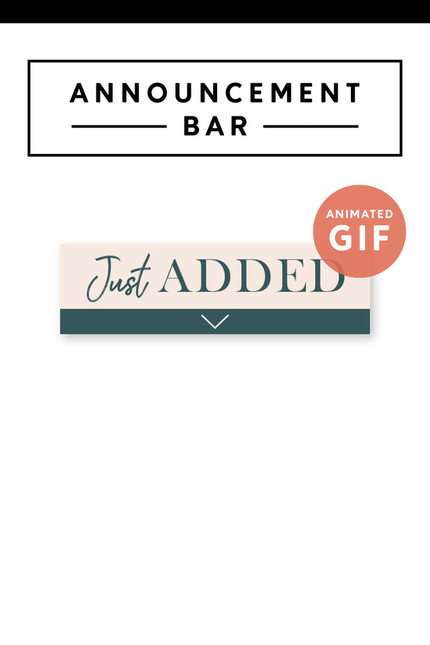 """Just Added"" Email Announcement Bar - Modern Brand"