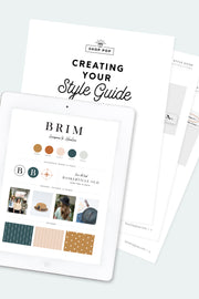editable style guide template shop pop