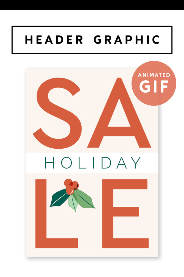 """Holiday Sale"" Holiday Email Header Graphic"