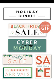 Premade Holiday Email Graphics