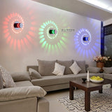 Spiral Luminous Shadow Effect Lamp, MULTICOLOR RGB Comes With Remote Control