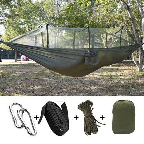 OUTDOOR MOSQUITO NET HAMMOCK HANGING SLEEPING BED
