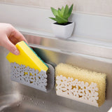 Bathroom Shelf Sponge Clothes Storage Rack Suction Kitchen Clean Holder Clip Rag Hollow Drain Rack Soap Hanging Shelves Dropship