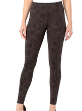 Load image into Gallery viewer, Reese Leggings-Copper Black Python