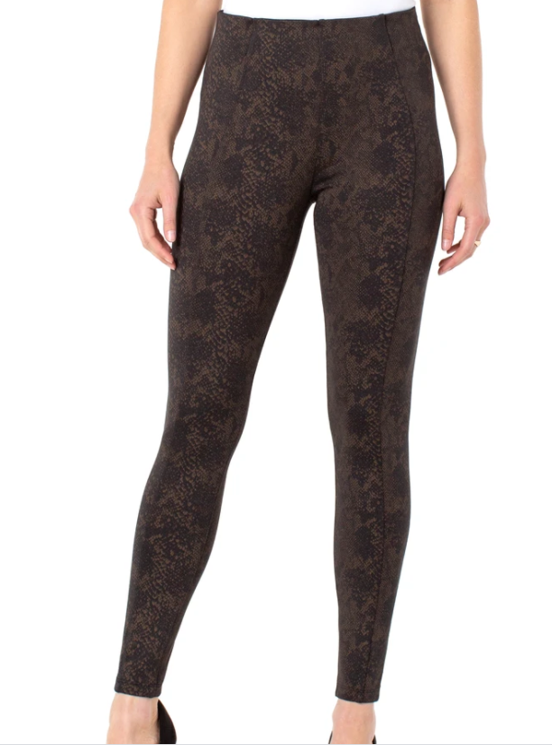 Reese Leggings-Copper Black Python
